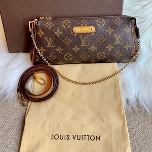 Louis Vuitton Monogram Eva Pochette with Strap